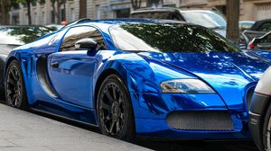 Preview wallpaper bugatti, style, blue, design