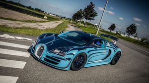 Preview wallpaper bugatti, veyron, super, sport, saphir bleu, supercar