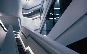 Preview wallpaper building, architecture, design, minimalism, stairs