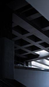 Preview wallpaper building, architecture, interior, minimalism, symmetry