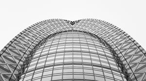 Preview wallpaper building, architecture, minimalism, bw