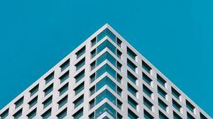 Preview wallpaper building, architecture, minimalism, blue