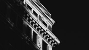 Preview wallpaper building, architecture, shadow, black and white, black
