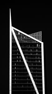 Preview wallpaper building, bw, facade, minimalism, black