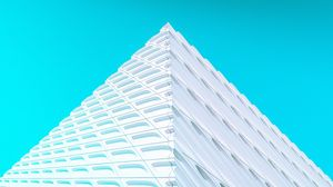 Preview wallpaper building, facade, architecture, corner, white, minimalism, symmetry
