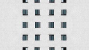Preview wallpaper building, facade, architecture, windows, wall, white