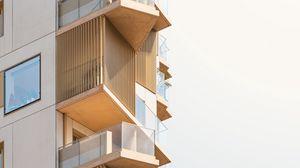 Preview wallpaper building, facade, architecture, balconies, windows