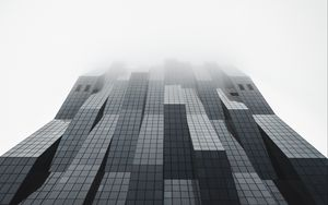 Preview wallpaper building, facade, architecture, modern, gray, minimalism