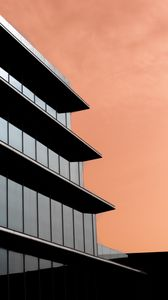 Preview wallpaper building, glass, facade, architecture, minimalism