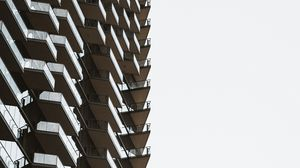 Preview wallpaper building, minimalism, architecture, high-rise