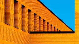 Preview wallpaper building, minimalism, architecture, orange