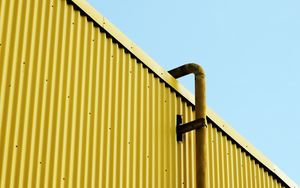 Preview wallpaper building, pipe, yellow, minimalism