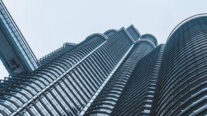 Preview wallpaper building, skyscraper, architecture, minimalism, modern