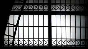 Preview wallpaper building, windows, construction, black-and-white, black