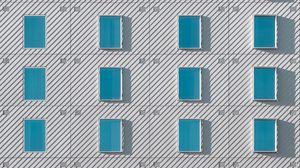 Preview wallpaper building, windows, facade, architecture, minimalism
