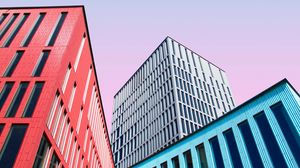 Preview wallpaper buildings, architecture, colorful, symmetry, minimalism