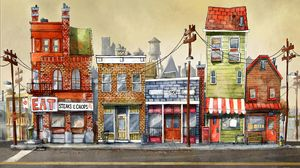 Preview wallpaper buildings, art, street, city