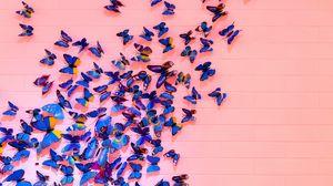 Preview wallpaper butterflies, wall, decoration, design