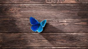 Preview wallpaper butterfly, surface, wooden