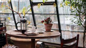 Preview wallpaper cafe, restaurant, table, interior, design
