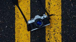 Preview wallpaper camera, asphalt, markup