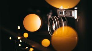 Preview wallpaper camera, bokeh, blur, lights, lens