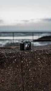 Preview wallpaper camera, gray, photo