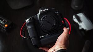 Preview wallpaper camera, hand, technique, photographer