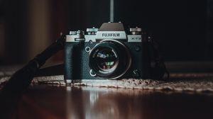 Preview wallpaper camera, lens, black, gray