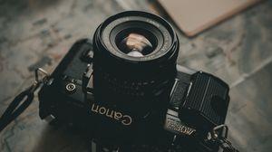 Preview wallpaper camera, lens, card