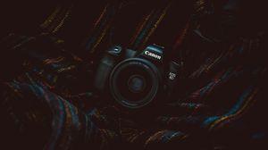 Preview wallpaper camera, lens, dark