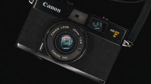 Preview wallpaper camera, lens, retro, black