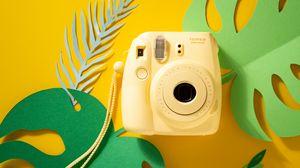 Preview wallpaper camera, polaroid, white, lens, photo