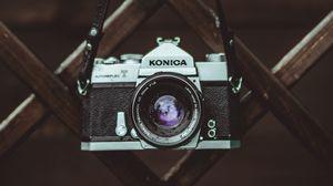 Preview wallpaper camera, retro, lens, fence