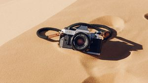 Preview wallpaper camera, sand, dunes