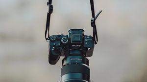 Preview wallpaper camera, strap, black