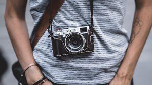 Preview wallpaper camera, photographer, lens, hobby