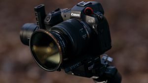 Preview wallpaper camera, tripod, equipment, black