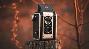 Preview wallpaper camera, vintage, retro, stump, blur