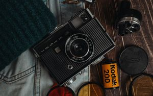 Preview wallpaper cameras, lenses, old, retro