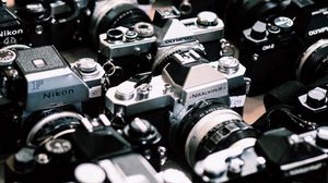 Preview wallpaper cameras, retro, vintage, technology