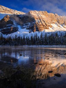 Preview wallpaper canada, banff national park, mountains, lake