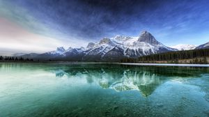 Preview wallpaper canada, lake, transparent, water, bottom, mountains, cool, freshness, purity
