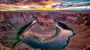 Preview wallpaper canyon, river, horseshoe bend, colorado, arizona