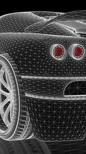 Preview wallpaper car, concept, three-dimensional, grid