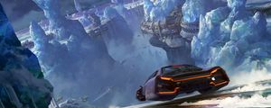 Preview wallpaper car, glaciers, sci-fi, speed