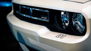 Preview wallpaper car, headlight, white