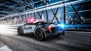 Preview wallpaper car, police, sportscar, supercar, lights