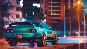 Preview wallpaper car, tuning, sportscar, street, city