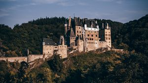 Preview wallpaper castle, forest, architecture, eltz castle, wierschem, germany